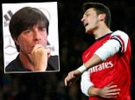 Germany don't trust Mesut Ozil as Arsenal's £42.5m man shows himself up in England